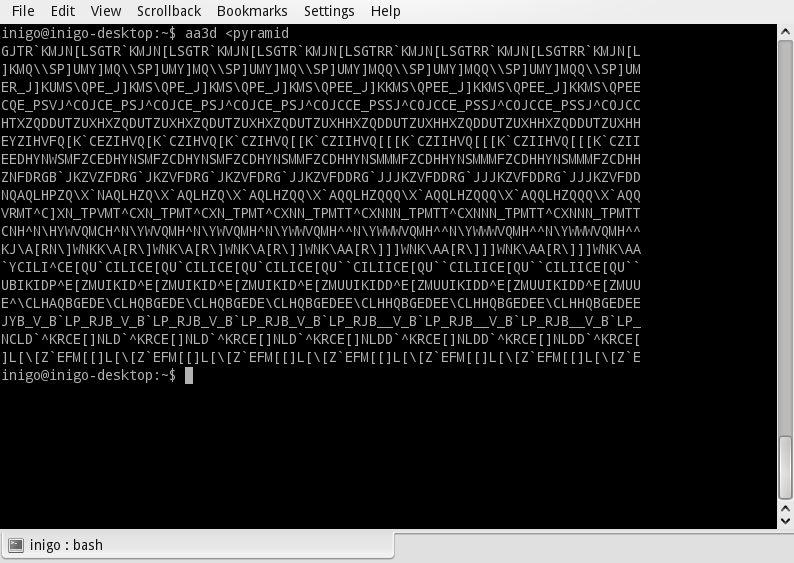 aa3d — Генератор стереограмм ASCII