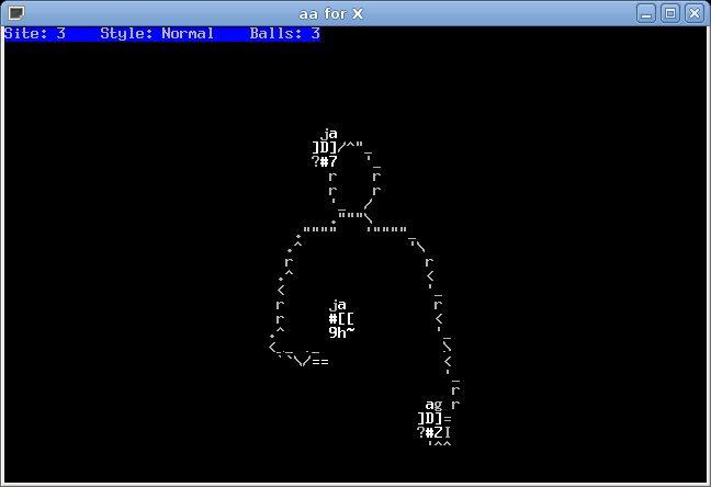aajm — ASCII арт-версия jugglemaster