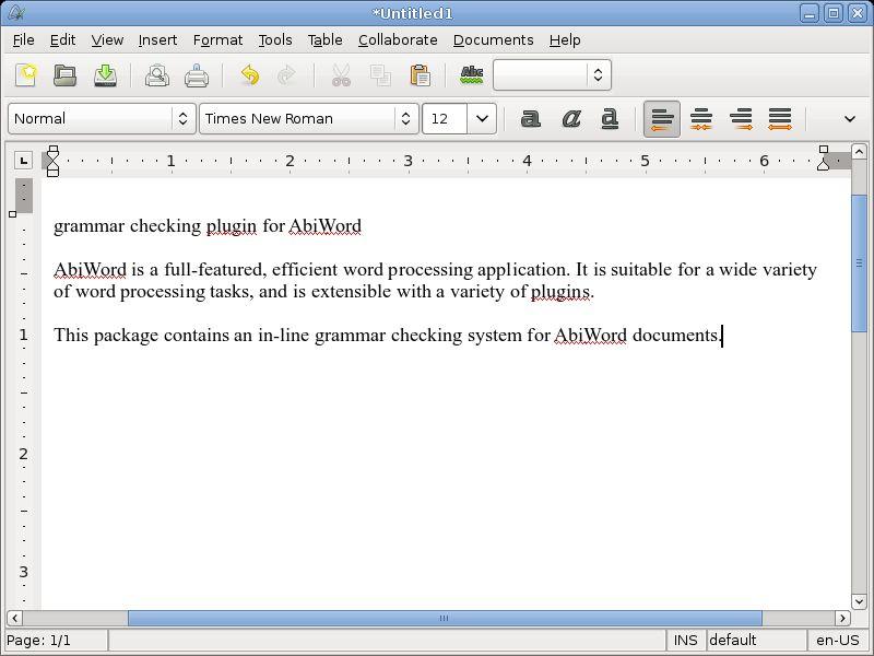 abiword-plugin-grammar — плагин для проверки грамматики для AbiWord