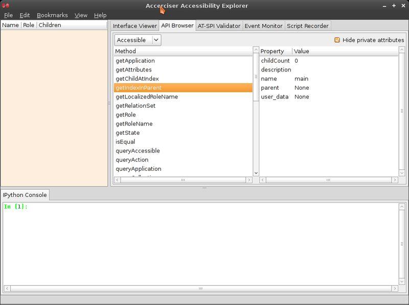 accerciser — интерактивный проводник для доступа к Python для рабочего стола GNOME