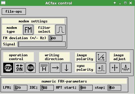 acfax — Прием факсов с использованием радио и звуковой карты