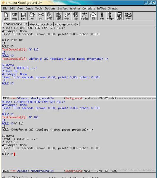 acl2-emacs — Вычислительная логика для аппликативного общего Lisp: интерфейс emacs