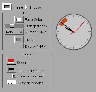 aclock.app — Аналоговые часы док-станции для GNUstep