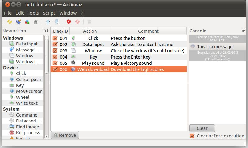 actionaz — переходный фиктивный пакет