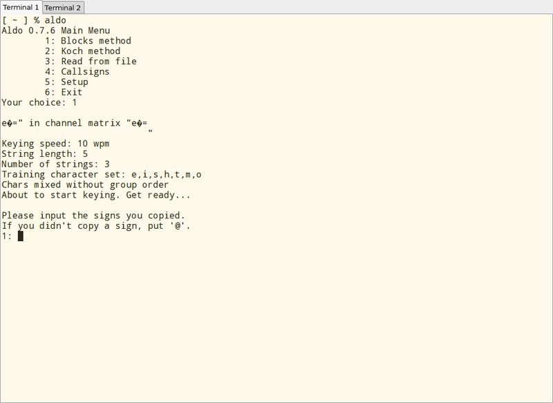 aldo — Программа обучения морскому коду