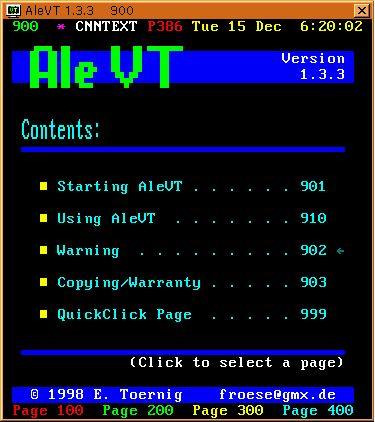 alevt — Браузер X11 Teletext/Videotext
