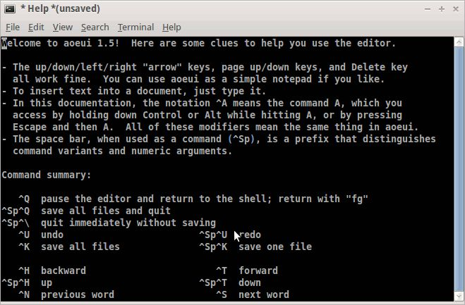 aoeui — легкий, ненавязчивый, текстовый редактор с оптимизацией Dvorak