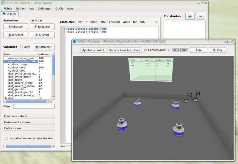 aseba — Основанная на событиях структура для управления распределенными мобильными роботами