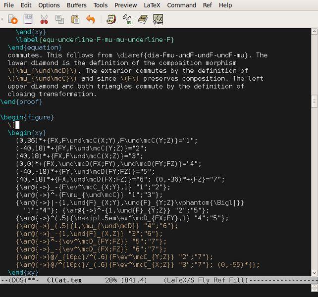 auctex — интегрированная среда редактирования документов для TeX и т. д.