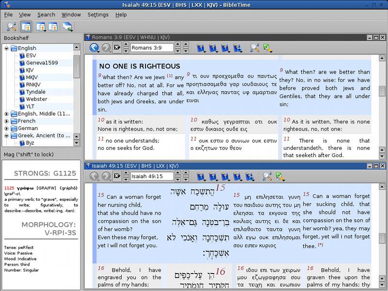 bibletime — инструмент изучения Библии для Qt