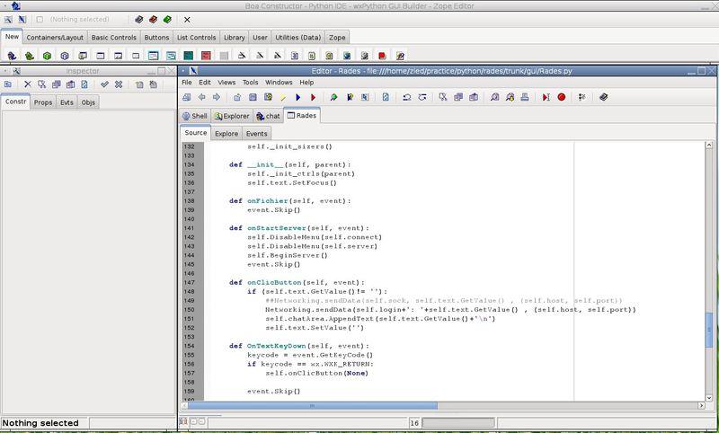 boa-constructor — Инструмент RAD для приложений Python и wxWindows
