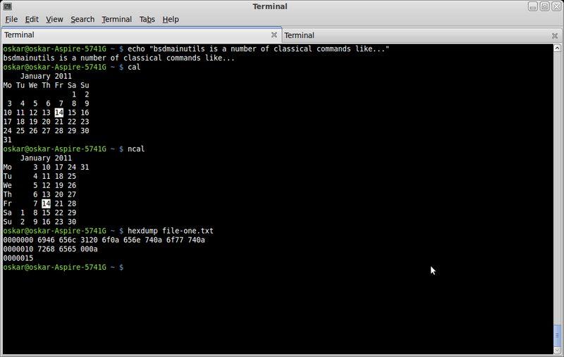 bsdmainutils — сбор дополнительных утилит от FreeBSD