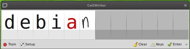 cellwriter — панель ввода рукописного ввода сетки