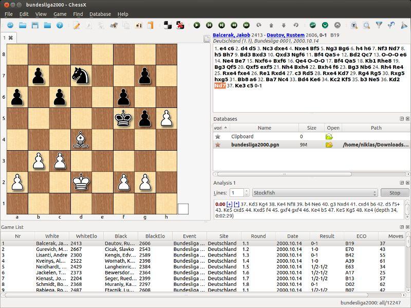 chessx — шахматная база