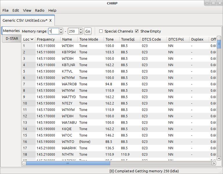 chirp — Инструмент настройки для любительских радиоприемников