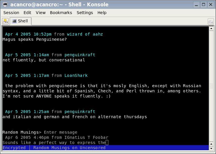 citadel-client — полный и многофункциональный сервер групповой работы (клиент командной строки)