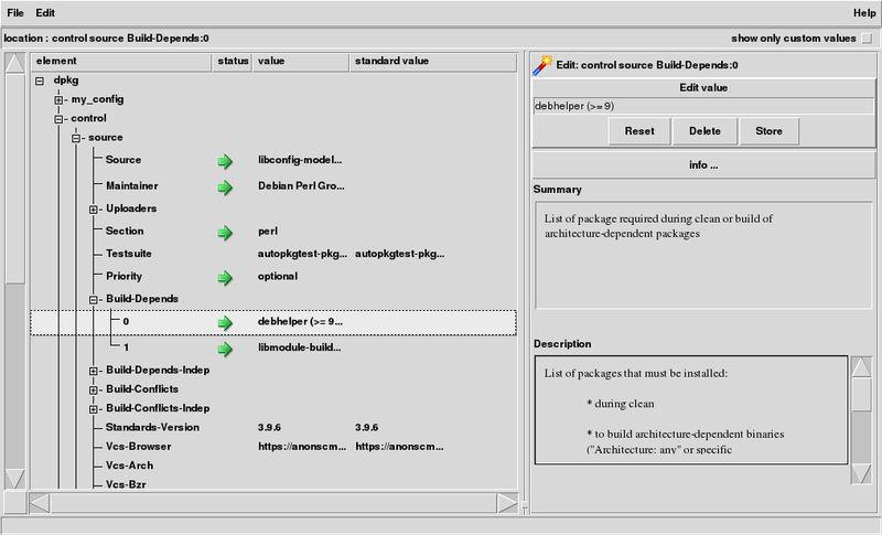 cme — Проверка или редактирование данных конфигурации с помощью Config :: Model