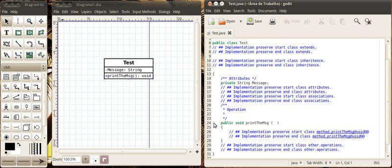 dia2code — генератор кода dia-UML