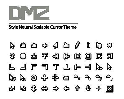 dmz-cursor-theme — Стиль нейтральной, масштабируемой темы курсора