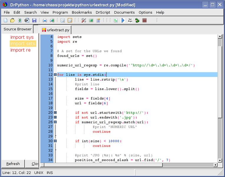 drpython — простой и настраиваемый редактор для языка Python