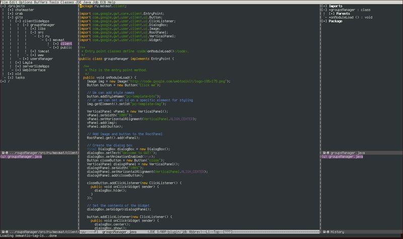 ecb — для браузера Emacs, поддерживающего несколько языков