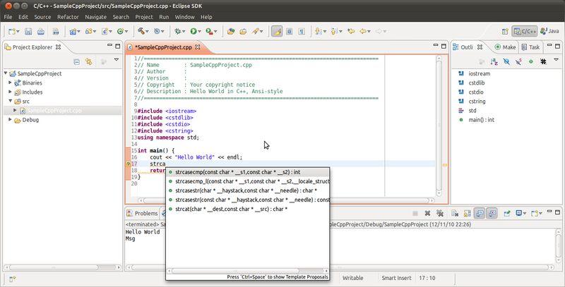 eclipse-cdt — Средства разработки C/C++ для Eclipse