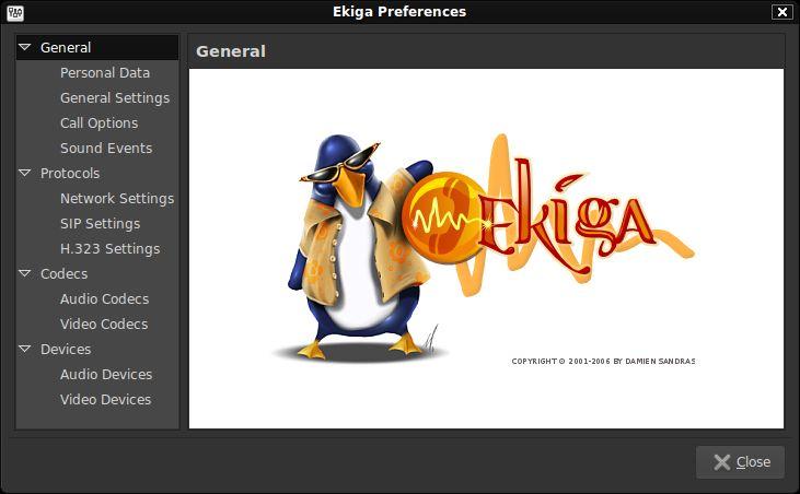 ekiga — H.323 и совместимый с SIP VoIP-клиент