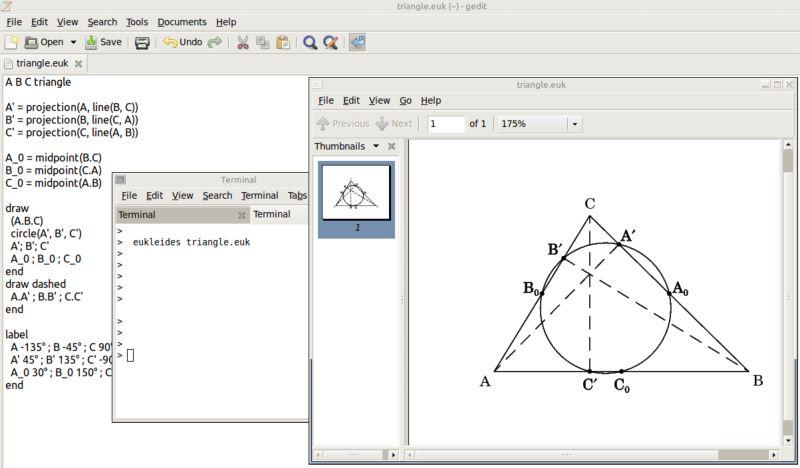 eukleides — Язык евклидовой геометрии