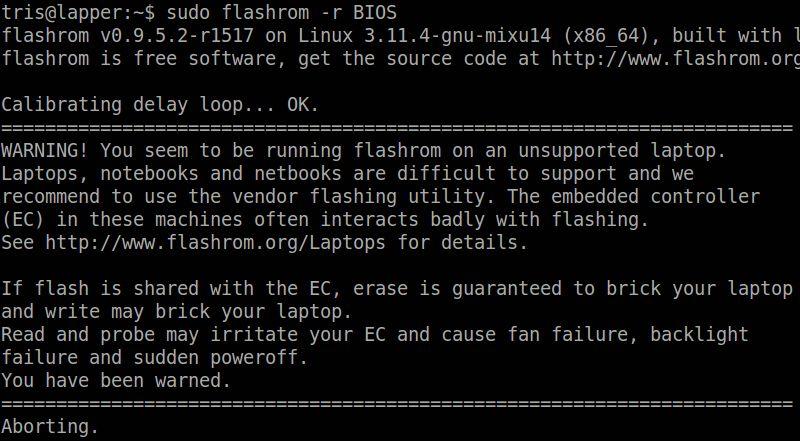 Установка flashrom в Ubuntu / Linux Mint / Debian