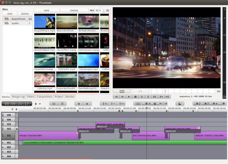 flowblade — нелинейный видеоредактор