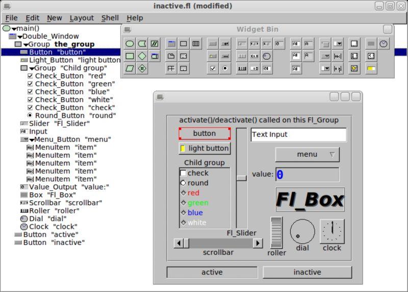 fluid — Fast Light Toolkit - дизайнер пользовательского интерфейса
