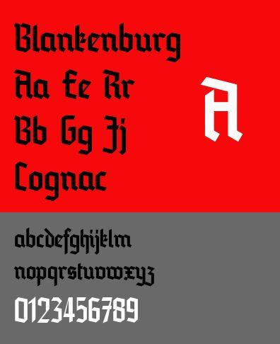 fonts-blankenburg — Современный шрифт черного текста