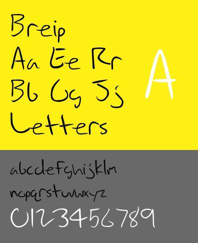 fonts-breip — неофициальный шрифт почерка