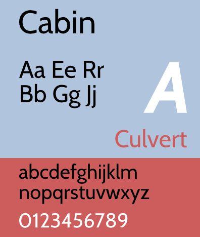 fonts-cabin — Гуманистический шрифт без засечек
