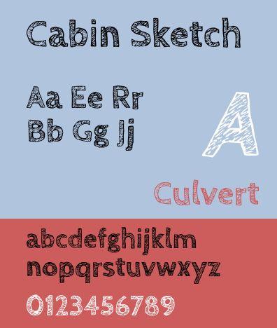 fonts-cabinsketch — игривая сестра семейства шрифтов Cabin