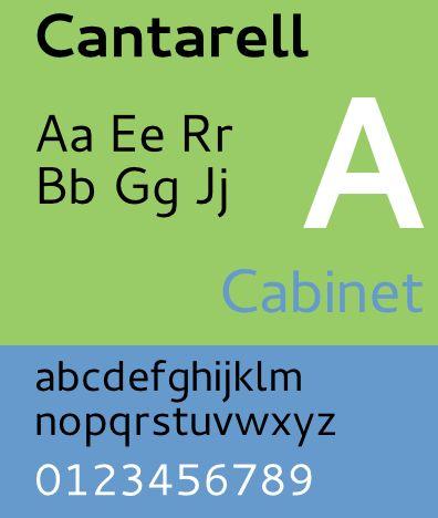 fonts-cantarell — Семейство шрифтов sans serif предназначено для чтения на экране