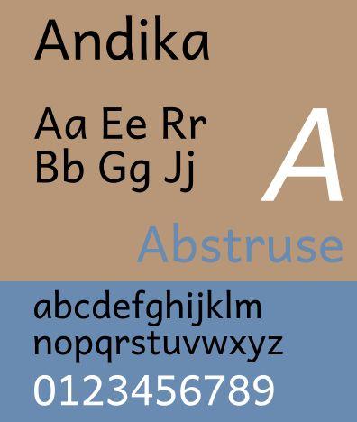 fonts-sil-andika — расширенная интеллектуальная семья Unicode Latin/Greek для грамотности