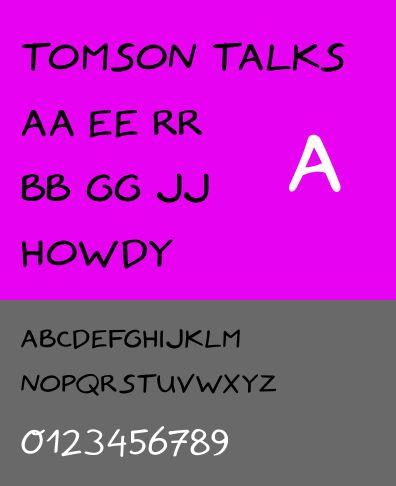 fonts-tomsontalks — шрифт комиксов