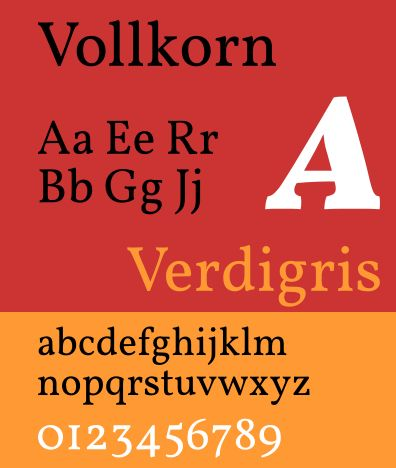 fonts-vollkorn — тип текста в виде засечек