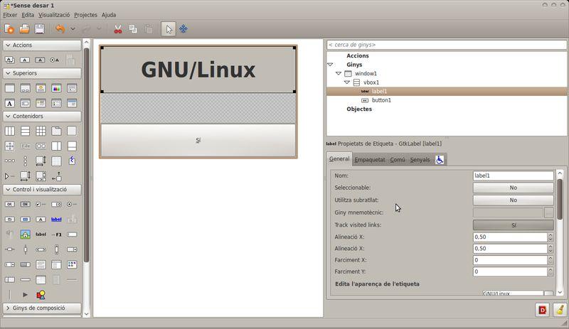 glade — GTK + построитель пользовательского интерфейса