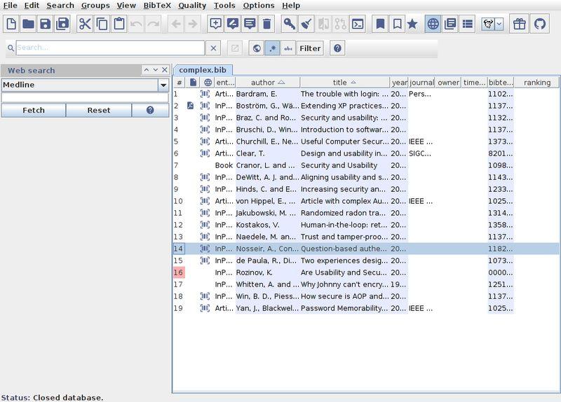 jabref — графический интерфейс для управления базами данных BibTeX и BibLaTeX