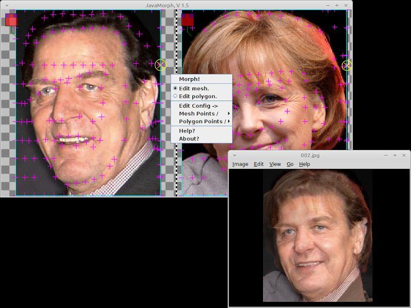javamorph — Программа преобразования морфинга Java для создания пиксельных изображений