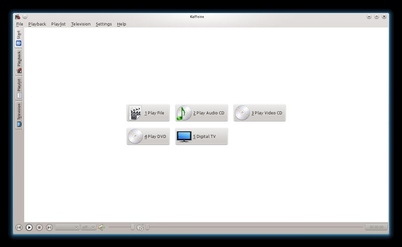 kaffeine — универсальный медиаплеер для KDE