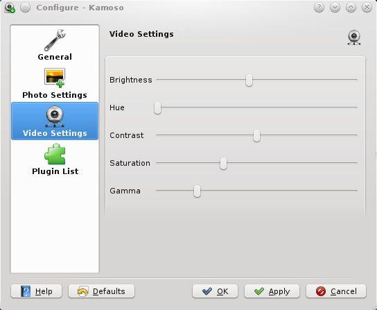 kamoso — инструмент для съемки и видео с веб-камеры