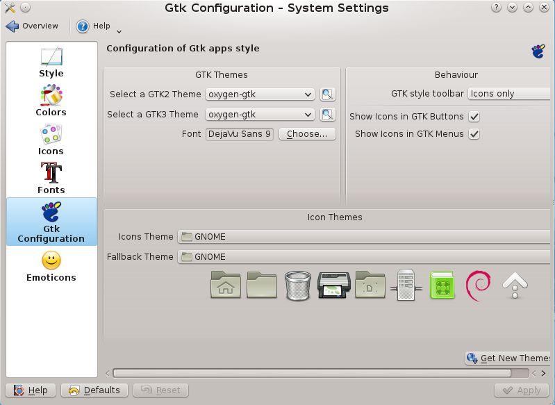 kde-config-gtk-style — KDE для выбора GTK+ 2.x и GTK+ 3.x