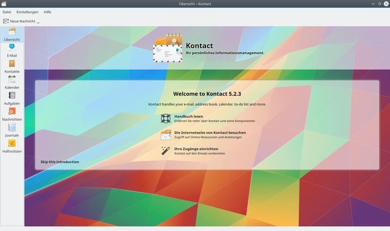 kontact — интегрированное приложение для управления персональной информацией