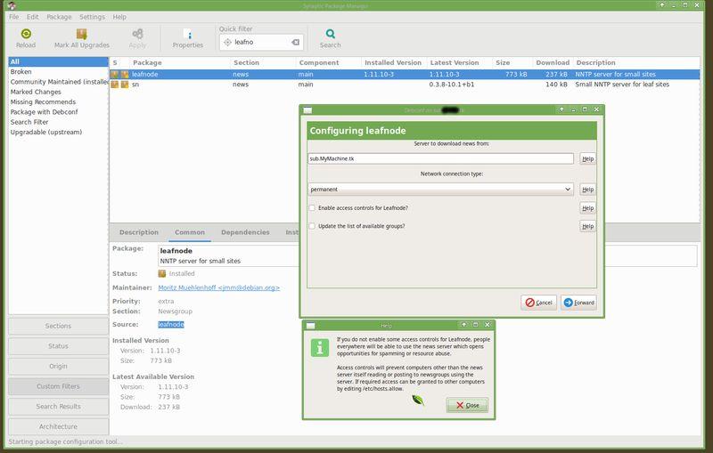 leafnode — Сервер NNTP для небольших сайтов