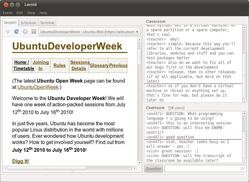 lernid — клиент, чтобы легко подключаться к событиям класса Ubuntu