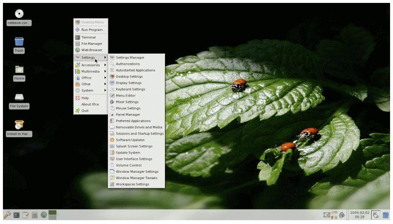 moblin-menus — Файл конфигурации Moblin и файл данных для меню рабочего стола