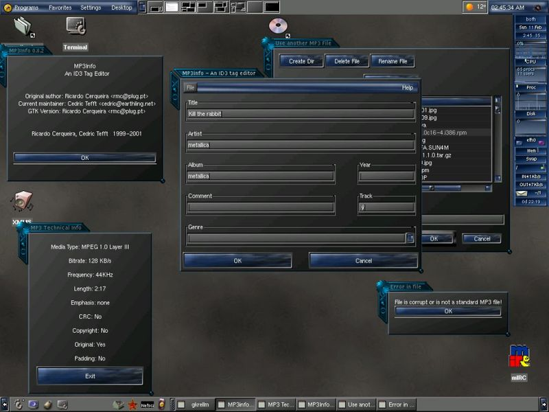 mp3info — Средство просмотра технической информации MP3 и редактор тегов ID3 1.x